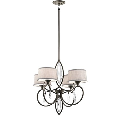 Brookline 4-Light Shaded Chandelier Finish: Olde Bronze