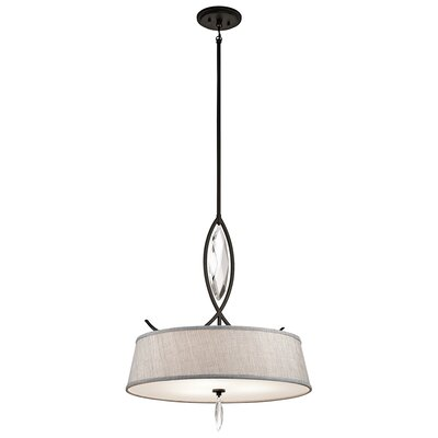 Brookline 3-Light Shade Pendant Finish: Olde Bronze