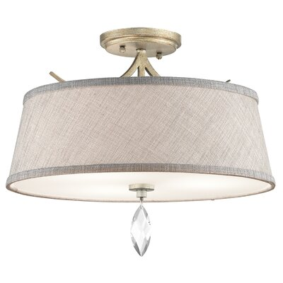 Belize 3-Light Semi Flush Mount Finish: Sterling Gold