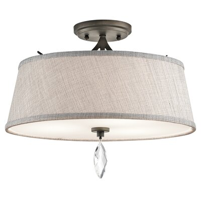 Brookline 3-Light Semi Flush Mount Finish: Olde Bronze