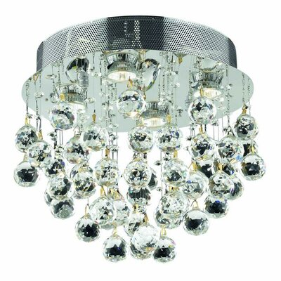 Colne 4-Light Flush Mount Crystal Grade: Swarovski Element