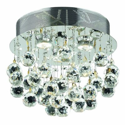 Colne 3-Light Flush Mount Crystal Grade: Swarovski Element