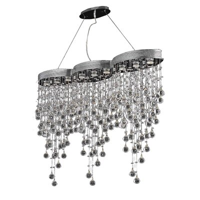 Colne 9-Light Crystal Chandelier Crystal Grade: Elegant Cut