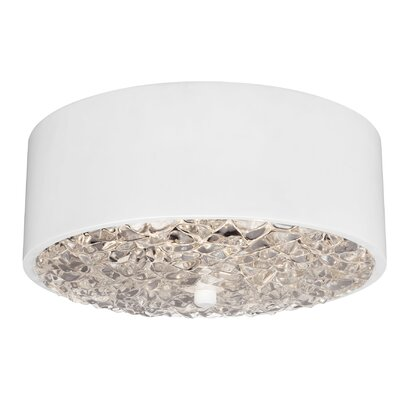 Fieldstone 2-Light Flush Mount Finish: Flat White