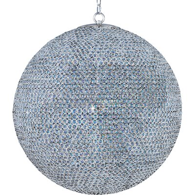 Farley Hall18-Light Crystal Chandelier Finish: Plated Silver