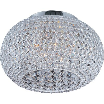 Farley Hall 5-Light Flush Mount Size: 8.75 H x 15 W, Finish: Plated Silver