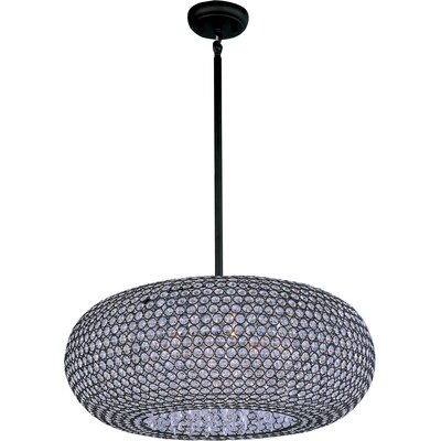 Farley Hall 9-Light Crystal Pendant Finish: Bronze