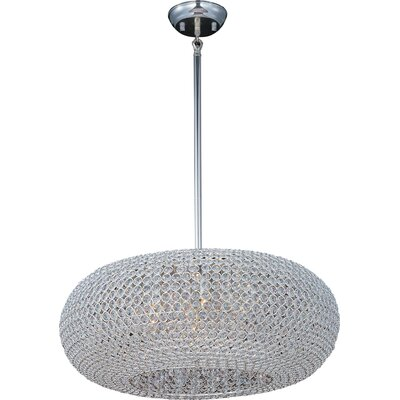 Farley Hall 9-Light Pendant Finish: Plated Silver, Size: 12 H x 24 W