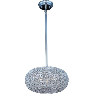 Farley Hall 5-Light Crystal Pendant Finish: Plated Silver
