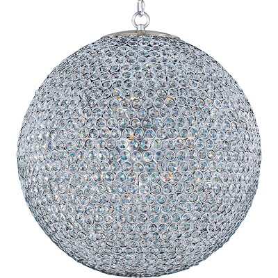 Farley Hall 12-Light Crystal Chandelier Finish: Plated Silver