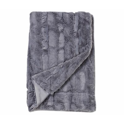 Harold Embossed Throw Blanket Color: Grey