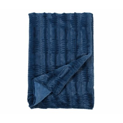 Florencio Embossed Throw Blanket Color: Teal