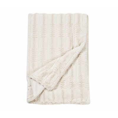 Florencio Embossed Throw Blanket Color: Cream