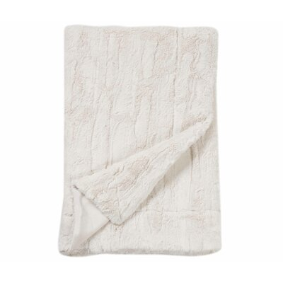 Florencio Embossed Throw Blanket Color: White