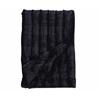 Florencio Embossed Throw Blanket Color: Black