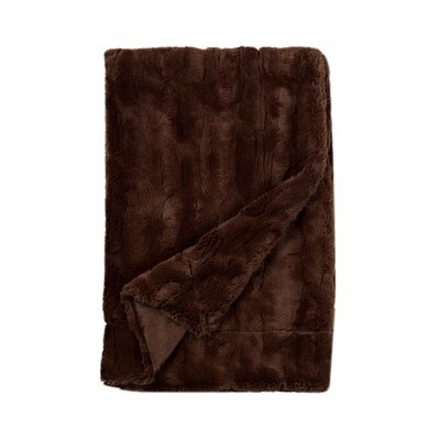 Florencio Embossed Throw Blanket Color: Brown