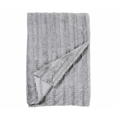 Florencio Embossed Throw Blanket Color: Light Grey