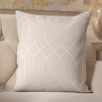 Sheller 100% Linen Throw Pillow Cover Size: 18 H x 18 W x 0.25 D, Color: BlueNeutral