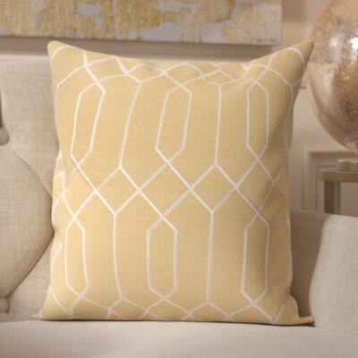 Tewkesbury 100% Linen Throw Pillow Cover Size: 18 H x 18 W x 0.25 D, Color: YellowNeutral