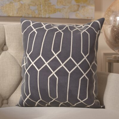 Tewkesbury 100% Linen Throw Pillow Cover Size: 22 H x 22 W x 0.25 D, Color: Navy