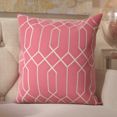 Tewkesbury 100% Linen Throw Pillow Cover Size: 18 H x 18 W x 0.25 D, Color: PinkGray