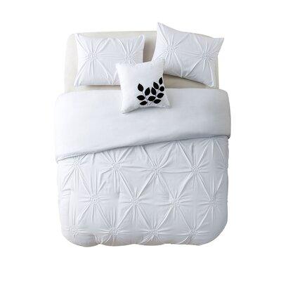 Volker 4 Piece Comforter Set Size: King, Color: White