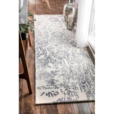 Giuliano Hand-Woven Gray Area Rug Rug Size: Runner 26 x 8
