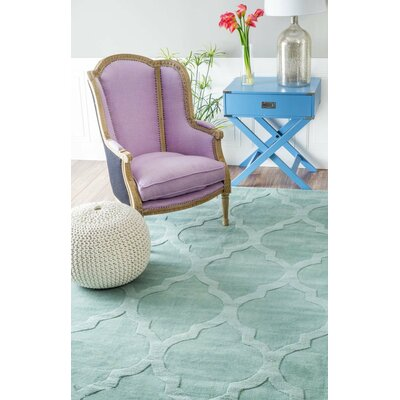Alonza Hand-Tufted Moss Area Rug Rug Size: 76 x 96