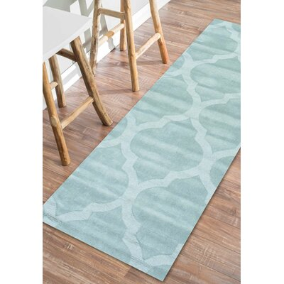 Alonza Hand-Tufted Wool Moss Area Rug Rug Size: Runner 26 x 8