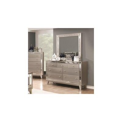 Jaqueline 7 Drawer Dresser with Mirror