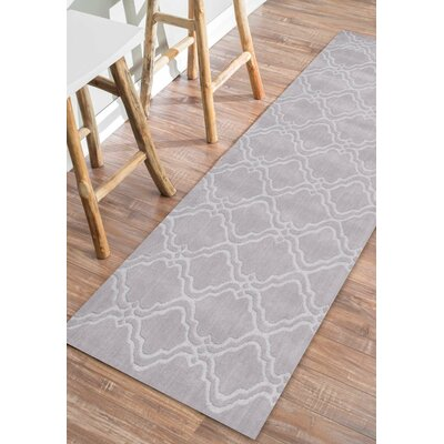 Stambruges Hand-Woven Gray Area Rug Rug Size: 86 x 116