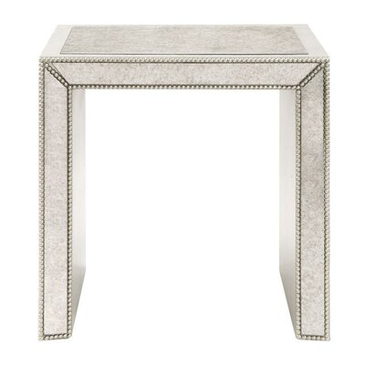 Kadence Antiqued Mirrored End Table