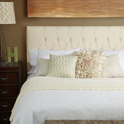 Lesa Upholstered Panel Headboard Size: Full, Upholstery: Ivory