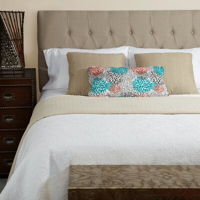 Lesa Upholstered Panel Headboard Size: Queen, Upholstery: Beige