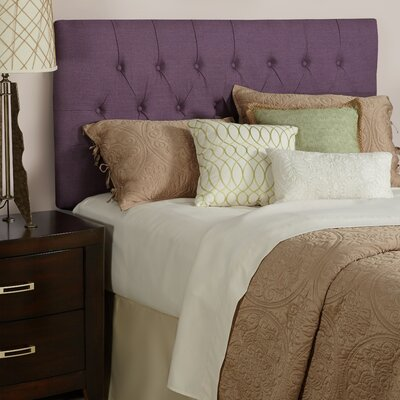 Lesa Upholstered Panel Headboard Size: Queen, Upholstery: Iris Purple