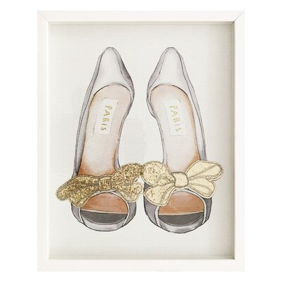 Gold Bows Framed Painting Print
