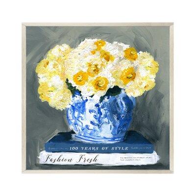 Fashion Fresh Blue Framed Painting Print