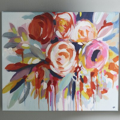 Fleur Painting Print on Wrapped Canvas Size: 16