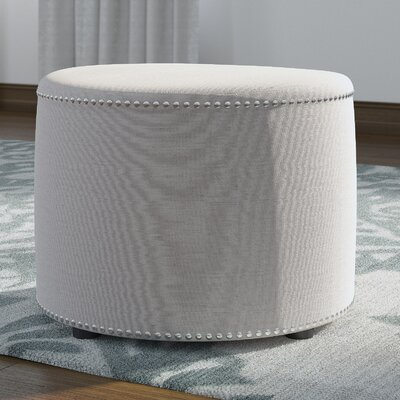 Bladon Fabric Ottoman Color: Taupe