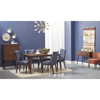 Ripton Mid-Century Modern Rectangular Dining Table and Dining Chair