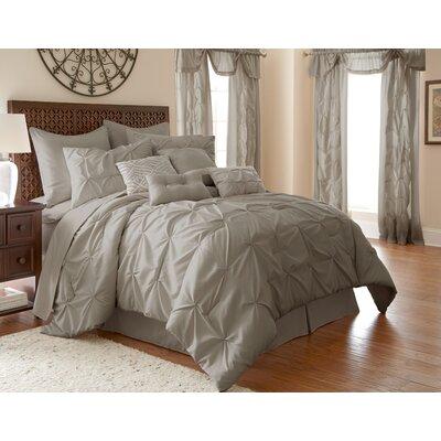 MacLaine 24 Piece Comforter Set Size: Queen, Color: Grey