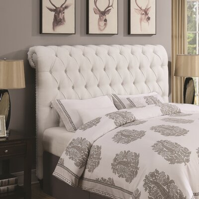New Milton Upholstered Panel Headboard Size: California King, Upholstery: White