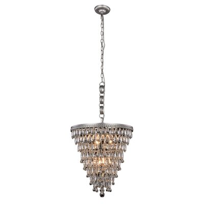 Esmeraude 5-Light Contemporary Crystal Chandelier