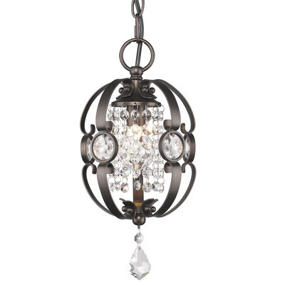 Hardouin 1-Light Foyer Pendant Finish: Bronze