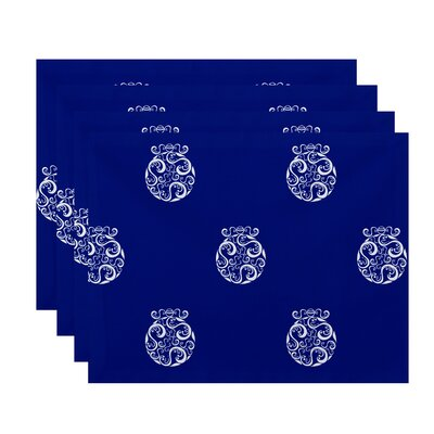 Holiday Print Placemat Color: Royal Blue