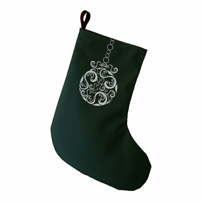 Decorative Holiday Print Stocking Color: Dark Green
