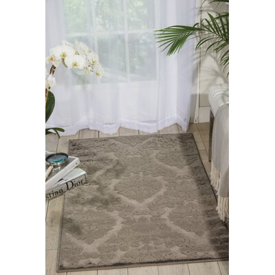 Hartz Silver/Gray Area Rug Rug Size: Rectangle 53 x 73