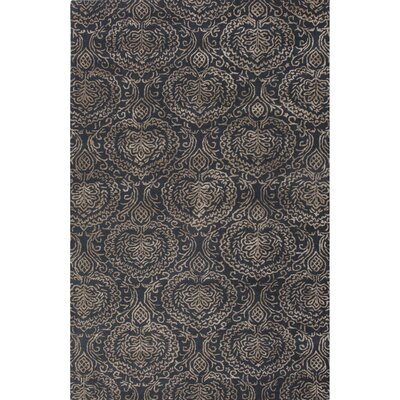 Calantha Hand-Tufted Blue/Taupe Area Rug Rug Size: 5 x 8