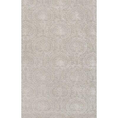 Calantha Hand-Tufted Gray/Ivory Area Rug Rug Size: 5 x 8