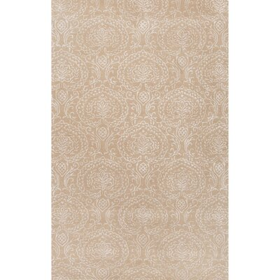 Calantha Hand-Tufted Neutral/Ivory Area Rug Rug Size: 2 x 3